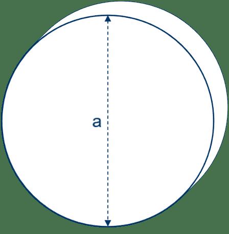 Kreisförmige Matratze