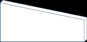 Rechteck mit Abschnitt ohne Maße