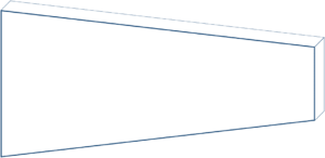 Rechteck mit zwei Abschnitten ohne Maße
