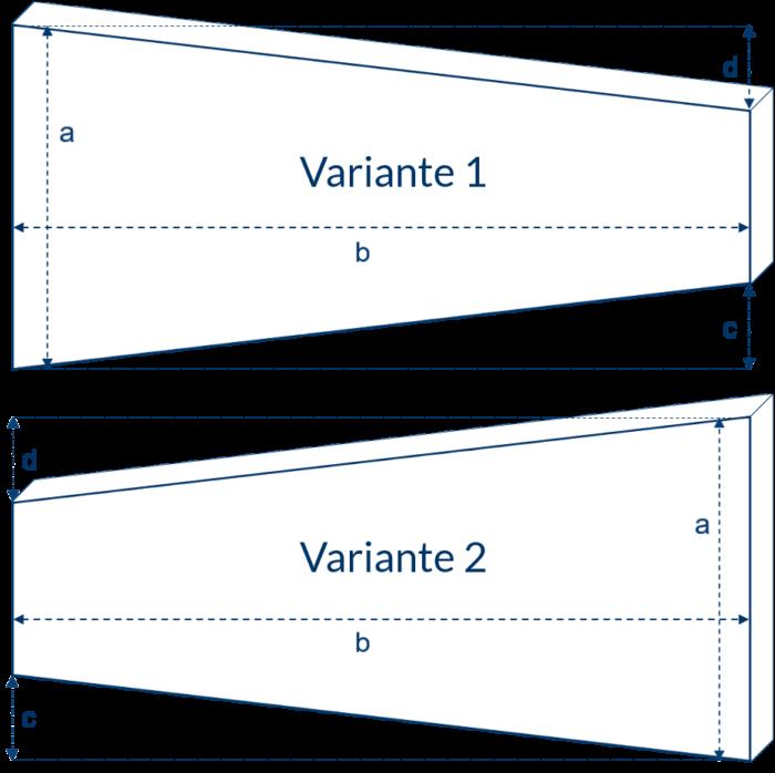 Matratze mit zwei schrägen Seiten