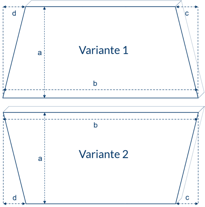 Trapezförmige Matratze